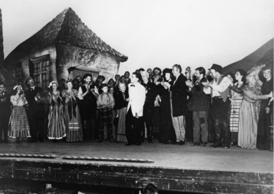 Peter Grimes curtain call with Leonard Bernstein in white, August 1946