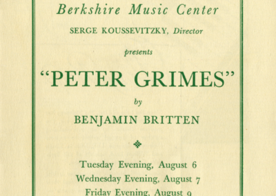 Peter Grimes program cover, August 1946