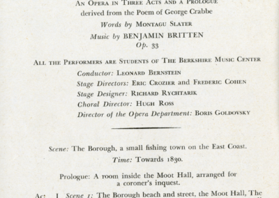 Peter Grimes program, August 1946