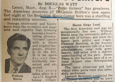 Peter Grimes review excerpt, New York Daily News, August 7, 1946