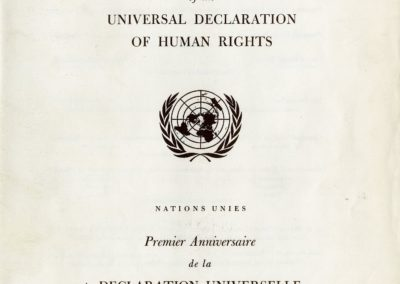 UN Declaration concert program cover, December 10, 1949