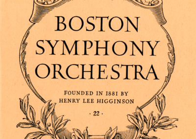 April 8+9, 1949 concert program cover