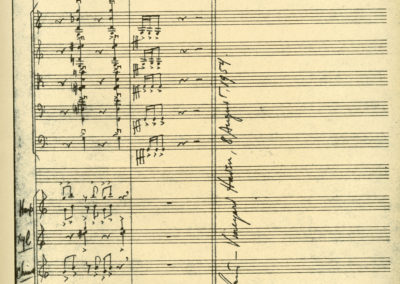 Serenade Score, Last page with Bernstein's signature