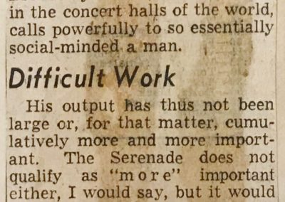 Concert Review, page 2, Boston Herald, April 16, 1955.