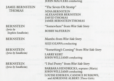 Bernstein's 70th Birthday Gala concert program, page 4, August 25, 1988