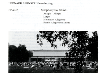 Koussevitsky Memorial concert program, page 1, August 28, 1988