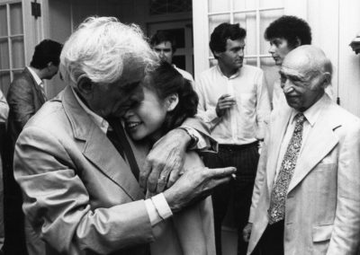 Bernstein and Midori, July 26, 1986. Photograph by Walter H. Scott