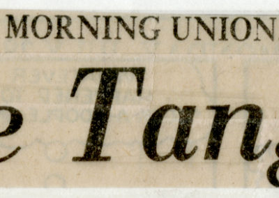 Clipping from The Morning Union, July 28, 1986